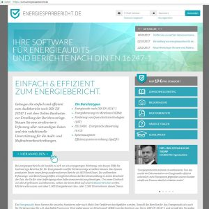 screenshot von energiesparbericht.de