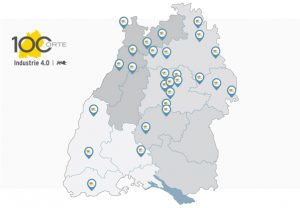 100 Orte fuer Industrie 4,0 Karte