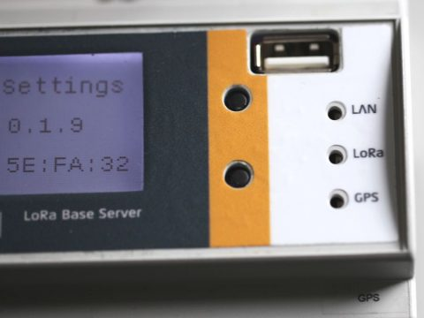 Closeup of LoRa enabled device