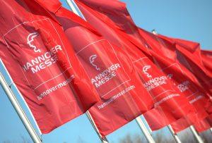 Flaggen der Hannover Messe