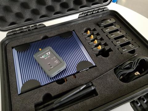 Koffer mit mioty-Hardware